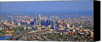 Philadelphia Skyline Canvas Prints - Philadelphia Aerial  Canvas Print by Duncan Pearson