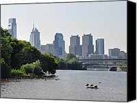 Fairmount Park Canvas Prints - Philadelphia Along the Schuylkill River Canvas Print by Bill Cannon