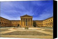 Philadelphia Canvas Prints - Philadelphia Art Museum Canvas Print by Evelina Kremsdorf