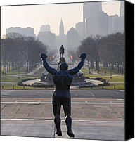 Art Museum Canvas Prints - Philadelphia Champion - Rocky Canvas Print by Bill Cannon