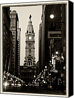 Philadelphia Canvas Prints - Philadelphia City Hall Canvas Print by Louis Dallara
