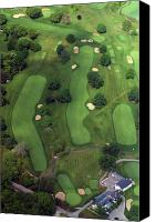 Phila Cricket Canvas Prints - Philadelphia Cricket Club Wissahickon Golf Course 1st Hole Canvas Print by Duncan Pearson