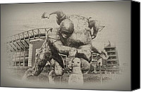 Stadium Digital Art Canvas Prints - Philadelphia Eagles at the Linc Canvas Print by Bill Cannon
