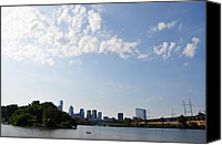 Kelly Digital Art Canvas Prints - Philadelphia from Kelly Drive Canvas Print by Bill Cannon