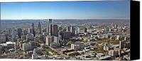 Philadelphia Skyline Canvas Prints - Philadelphia from North to South Canvas Print by Duncan Pearson