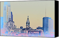 South Philadelphia Canvas Prints - Philadelphia From South Camden Canvas Print by Bill Cannon