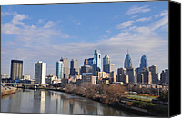 South Philadelphia Canvas Prints - Philadelphia from the South Street Bridge Canvas Print by Bill Cannon
