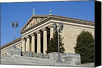 Fairmount Park Canvas Prints - Philadelphia Museum of Art Canvas Print by Brendan Reals