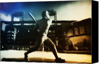 Ballpark Digital Art Canvas Prints - Philadelphia Phillie Mike Schmidt Canvas Print by Bill Cannon