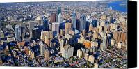 Aerial Canvas Prints - Philadelphia Rittenhouse Squarea 0471 Canvas Print by Duncan Pearson