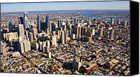 Philadelphia Skyline Canvas Prints - Philadelphia Skyline Aerial Graduate Hospital Rittenhouse Square Cityscape Canvas Print by Duncan Pearson