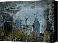 Phillie Canvas Prints - Philadelphia Skyline Canvas Print by Carol Senske