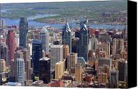 Philadelphia Skyline Canvas Prints - Philadelphia Skyscrapers Canvas Print by Duncan Pearson
