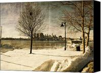 Winter Prints Canvas Prints - Philadelphia SnowScape Canvas Print by Milton Brugada