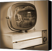 Tv Canvas Prints - Philco Television  Canvas Print by Mike McGlothlen