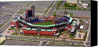 Stadium Design Canvas Prints - Phillies Citizens Bank Park Canvas Print by Duncan Pearson