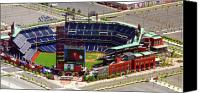 Aerial Canvas Prints - Phillies Citizens Bank Park Philadelphia Canvas Print by Duncan Pearson