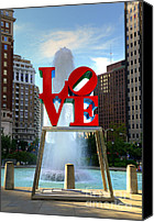 Love Park Canvas Prints - Philly love Canvas Print by Paul Ward