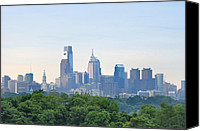 Philadelphia Skyline Canvas Prints - Philly Skyline Canvas Print by Bill Cannon