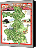 Sangre De Cristo Mountains Canvas Prints - Philmont Scout Ranch Poster Art Canvas Print by Philippe Plouchart