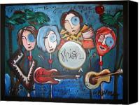 Big Painting Canvas Prints - Phish At Big Cypress Canvas Print by Laurie Maves