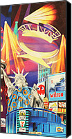 Colorful Drawings Canvas Prints - Phish New Years in New York Right Panel Canvas Print by Joshua Morton