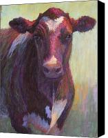 Bull Pastels Canvas Prints - Phoebe of Merry Mead Farm Canvas Print by Susan Williamson