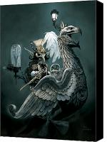 Eagle Drawings Canvas Prints - Phoenix Goblineer Canvas Print by Paul Davidson