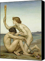 Nudes Canvas Prints - Phosphorus and Hesperus Canvas Print by Evelyn De Morgan