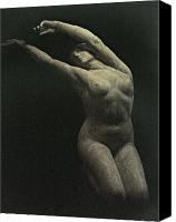 Figure Canvas Prints - Photo of Female Sculpture by the artist Canvas Print by Gary Kaemmer