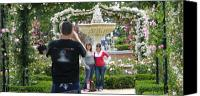 Retiro Canvas Prints - Photo shooting in Rosaleda park - Madrid Canvas Print by Thomas Bussmann