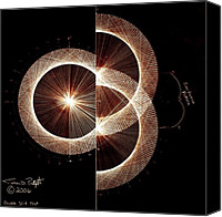 Fractals Canvas Prints - Photon Double Slit Test Hand Drawn Canvas Print by Jason Padgett