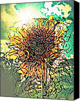 Removal Mixed Media Canvas Prints - Phototropism Solitary Canvas Print by Paulo Zerbato