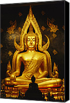 Religious Structures Canvas Prints - Phra Phuttha Chinnarat Buddha Canvas Print by Martin Gray
