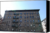 Nyc Fire Escapes Canvas Prints - Physical Graffitti Canvas Print by Rob Hans
