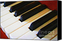 Orchestra Digital Art Canvas Prints - Piano Keys . v2 Canvas Print by Wingsdomain Art and Photography