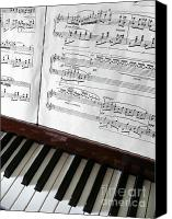 Paper Photo Canvas Prints - Piano Keys Canvas Print by Carlos Caetano