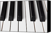 Keyboard Canvas Prints - Piano keys close up Canvas Print by Garry Gay