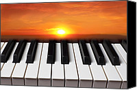 Ideas Canvas Prints - Piano sunset Canvas Print by Garry Gay