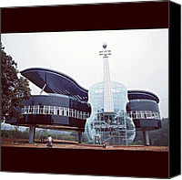 Violin Canvas Prints - Piano Violin House In China. #piano Canvas Print by Ben Armstrong