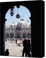 Byzantine Photo Canvas Prints - Piazza San Marco Canvas Print by Ellen Henneke