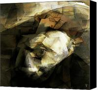 Cubism  Canvas Prints - Picasso Canvas Print by Byron Fli Walker