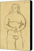 Nude Drawing Photo Canvas Prints - PICASSO: FEMALE NUDE, c1906 Canvas Print by Granger
