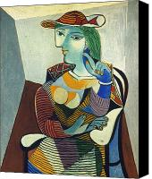 Faa Canvas Prints - Picasso: Marie-therese Canvas Print by Granger