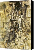 Flk Canvas Prints - Picasso: The Accordionist Canvas Print by Granger