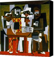 Flk Canvas Prints - Picasso: Three Musicians Canvas Print by Granger