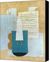 Flk Canvas Prints - Picasso: Violin, 1912 Canvas Print by Granger
