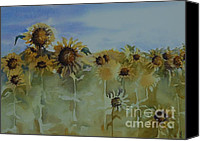 Sunflowers Canvas Prints - Pick Me Canvas Print by Gretchen Bjornson
