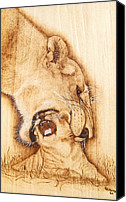 Wood Pyrography Canvas Prints - Pick Me UP Canvas Print by Roger Storey
