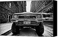 Nyc Photo Canvas Prints - Pick up truck on a New York street Canvas Print by John Farnan